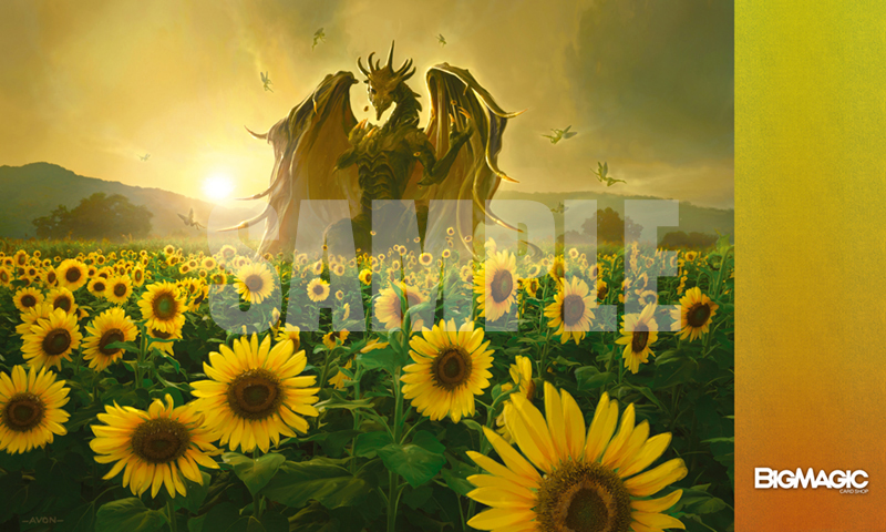 特製プレイマット -BIG MAGIC Open Vol.9 Playmat-「Sunflower Dragons」-