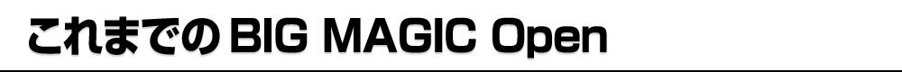 これまでのBIG MAGIC Open