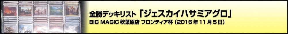 BIG MAGIC秋葉原店 フロンティア杯 全勝デッキリスト「ジェスカイハサミアグロ」(2016年11月5日)