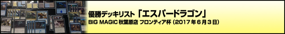 BIG MAGIC秋葉原店 フロンティア杯 優勝デッキリスト「エスパードラゴン」