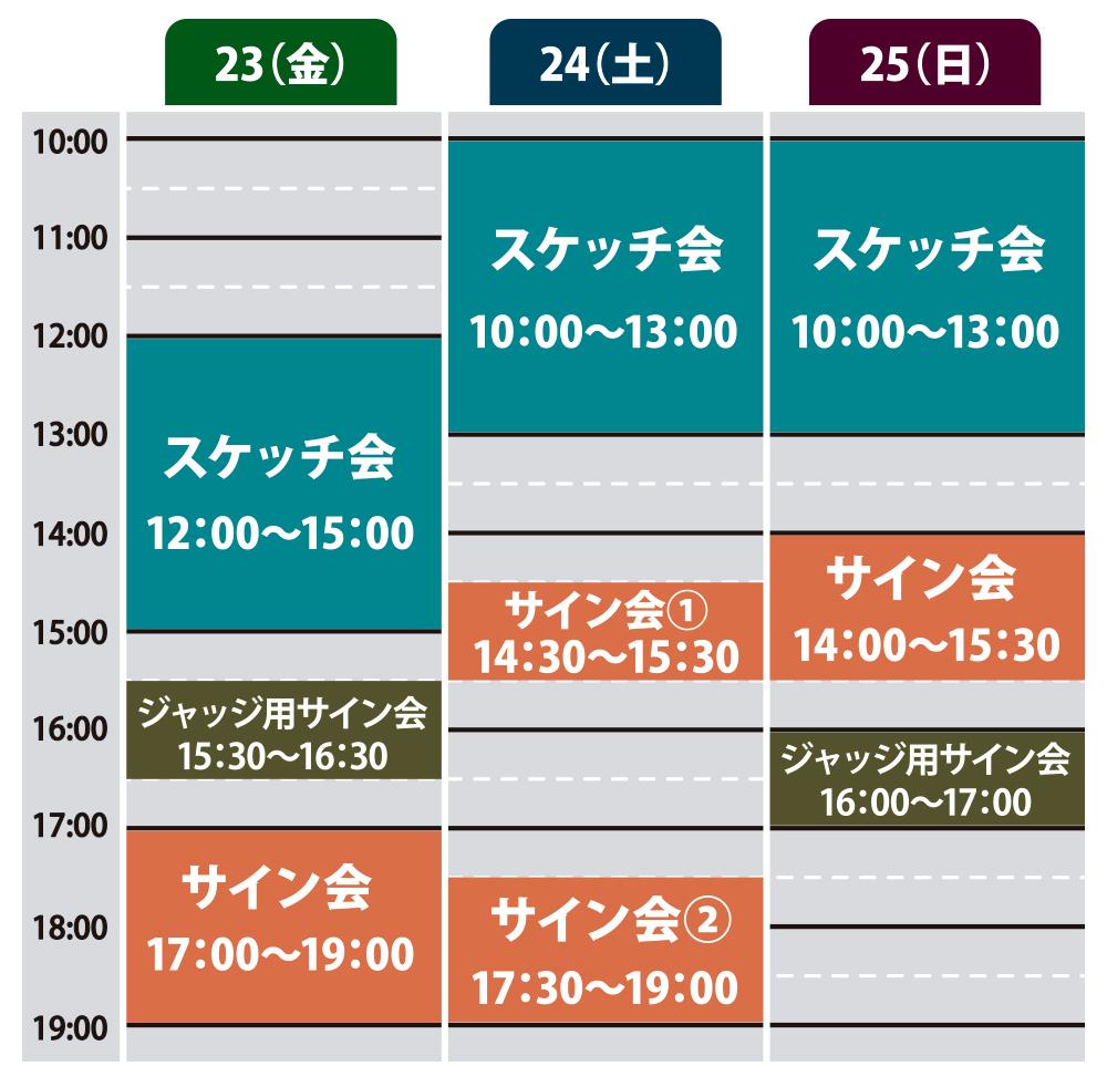 グランプリ・京都2018 アーティストスケジュール