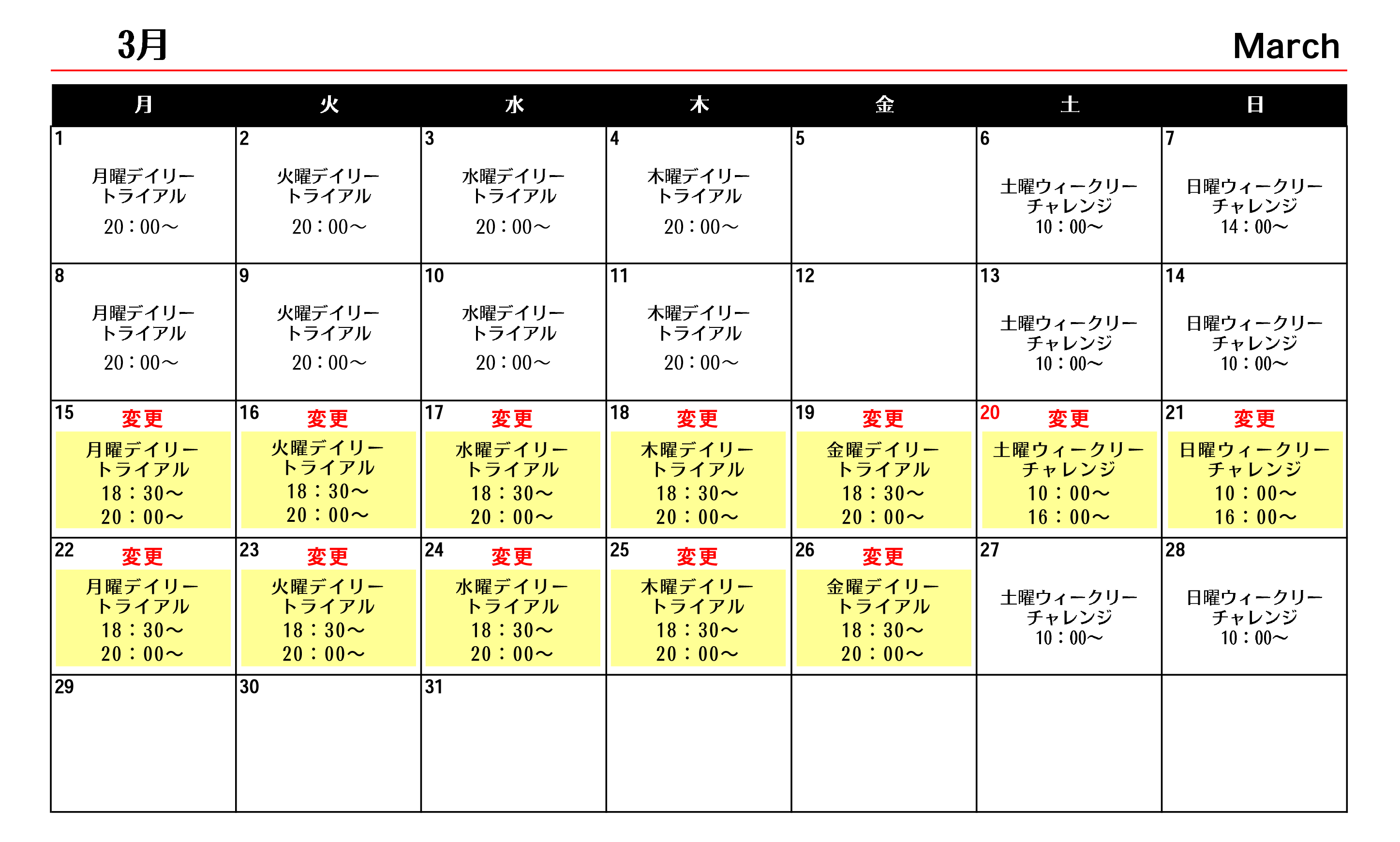 日本選手権2021ー3月